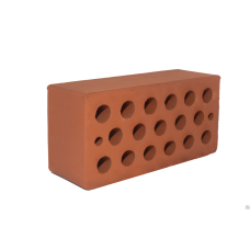 Керамический рядовой пустотелый одинарный кирпич М-150